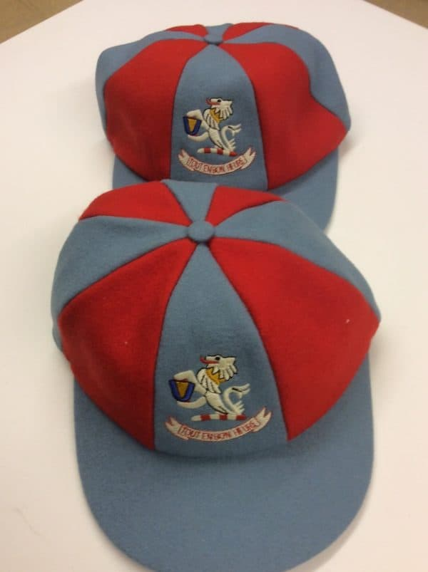 Red and Grey caps