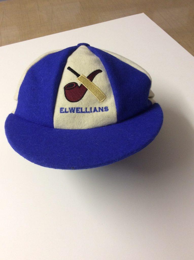 Blue and cream caps