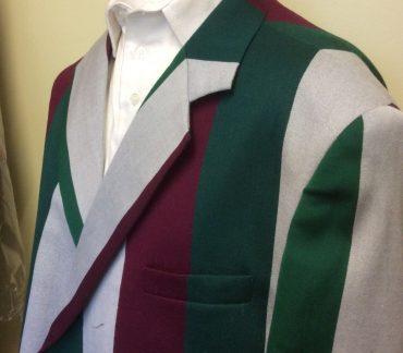 Blazer with Grey, Green and Burgundy stripes