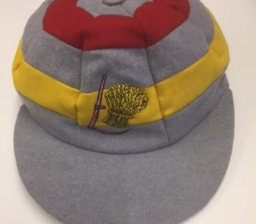 Grey, Red and Yellow cap