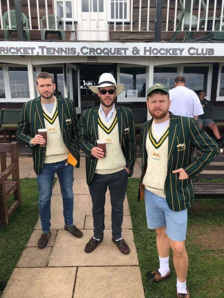 Gentlemen in Green and Yellow Blazers