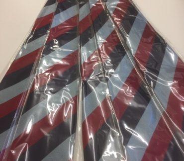 Maroon, Black and Grey striped ties