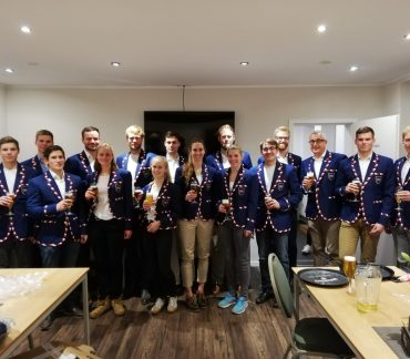 Team photo in Club Blazers