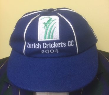 Blue cricket cap
