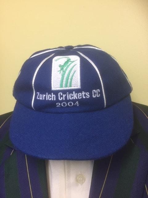 Blue cricket cap