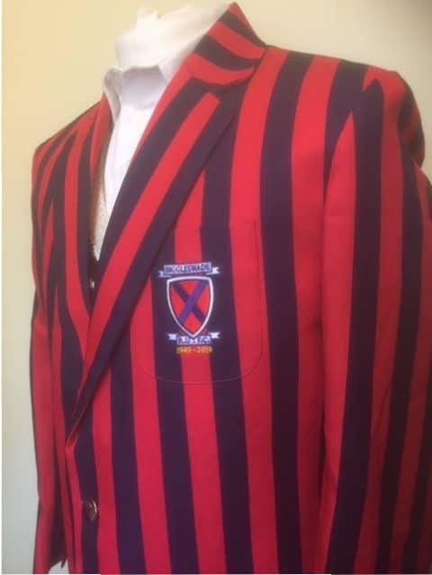 Red and Navy striped blazer