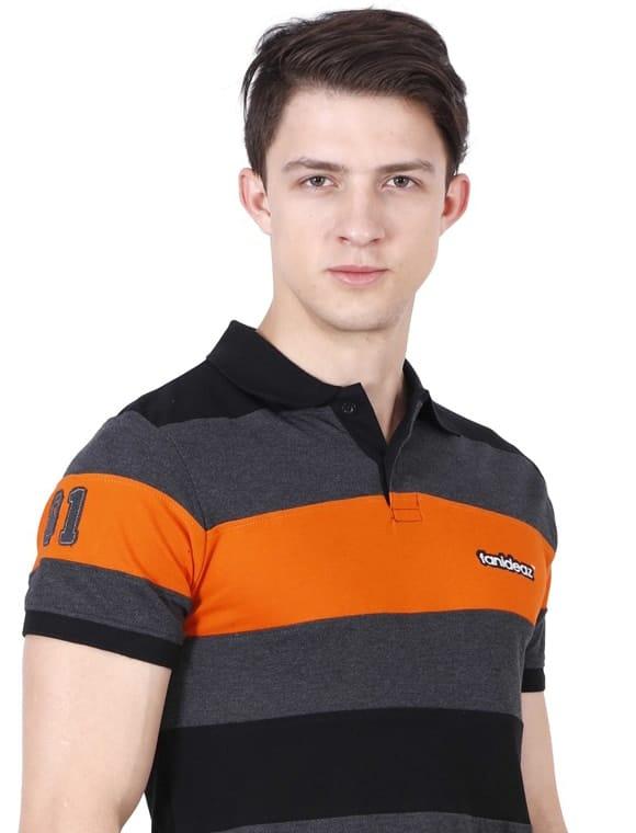 Boy in striped T shirt