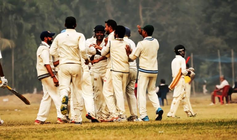 Cricket players are celebrating